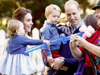 Watch Princess Charlotte, Prince George play with balloons, bubbles during party