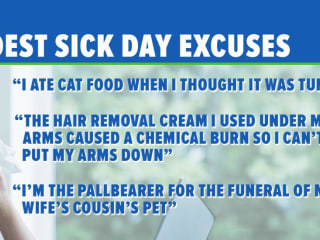 Here Are the Wildest Excuses People Have Used for Calling in Sick