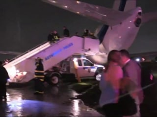 VP Nominee Mike Pence's Plane Skids Off New York Runway, No One Injured