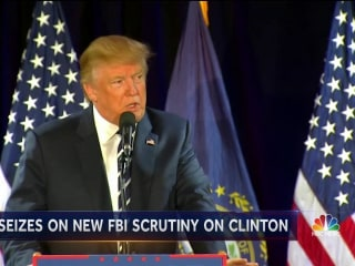 Trump Reenergized After New Clinton Email FBI Review