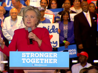 Clinton Says Trump's 'Final Target is Democracy Itself'
