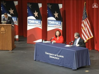 Senator Questions Opponent's American Heritage at Illinois Debate