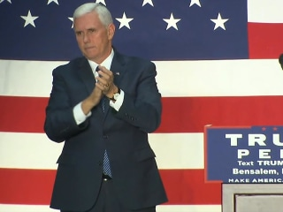 Gov. Pence Tells Supporters About FBI's Look into New Clinton Emails