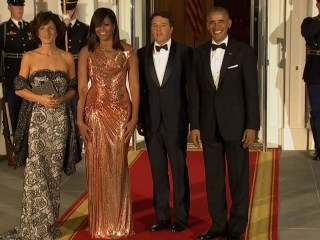 The Obamas Welcome Italian Prime Minister