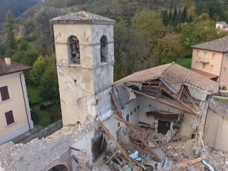 Drone Video Shows Italy Quake Damage