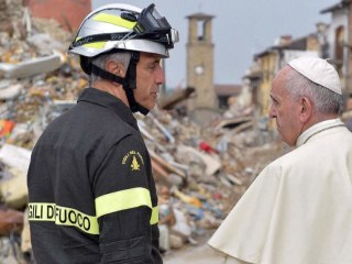 Pope Visits Italy Earthquake Victims in Amatrice