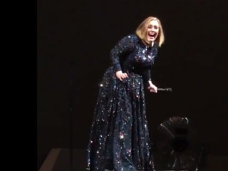 Watch Adele Freak Out After Seeing a Bat at Concert