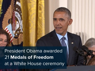 Stars, Icons Honored at Obama's Final Medal of Freedom Ceremony