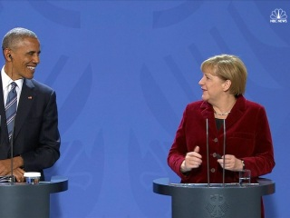 At Final Joint Press Conference, Merkel Calls Obama 'My Partner and Friend'