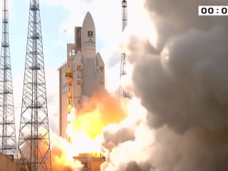 See Ariane 5 Rocket Blast Off