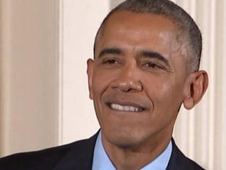 Obama Gets Choked Up During Ellen's Medal Ceremony