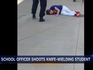 Video Shows Student with Knife at School Before Being Shot by Officer