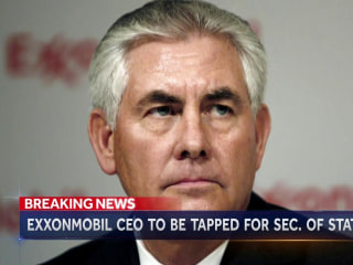 Exxon Mobil Chief Is Trump's Expected Pick For Secretary of State