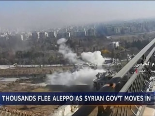 Thousands On The Run From Aleppo as Government Forces Move In