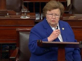 Longest Serving Woman Senator, Barbara Mikulski, Gives Farewell Address