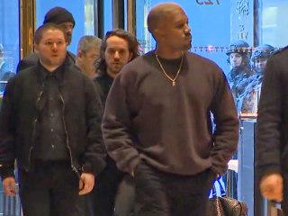 Watch Kanye West Walk Into Trump Tower