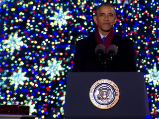 President Obama Delivers Message of Unity at National Tree Lighting