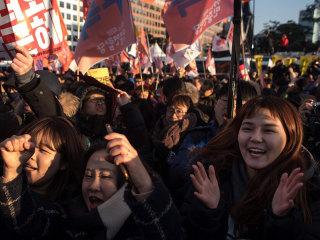 Huge Crowds Celebrate Vote to Impeach South Korean President