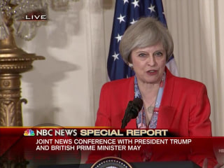 May: U.K., U.S. 'United in Our Recognition of NATO'