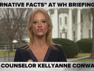 'Alternative Facts:' Kellyanne Conway Defends Press Secretary