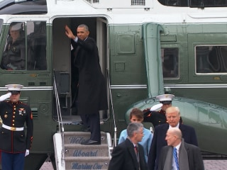 President Obama says goodbye
