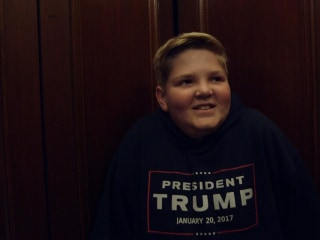 Trump's Inauguration is This Boy's Dream Trip