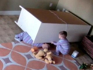 Caught on Camera: Dresser Falls on Twin Boys, One Toddler Saves the Other