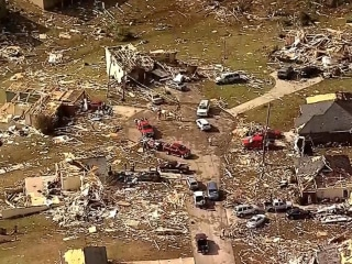 See Aftermath of Massive Tornado Damage in Hattiesburg, Mississippi