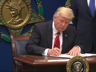 Trump Signs Executive Order on 'Extreme Vetting' and 'Refugees'.