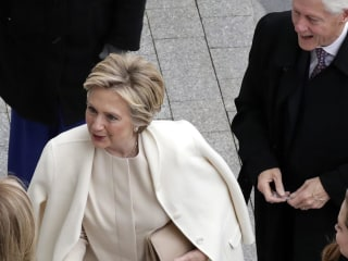 Hillary Clinton, Bill, Arrive at Trump's Inauguration