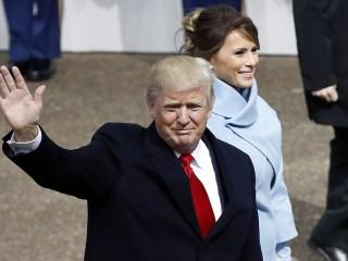 President Trump Greets Crowds at Inaugural Parade