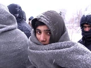Refugees Stranded in Europe Struggle in Freezing Weather
