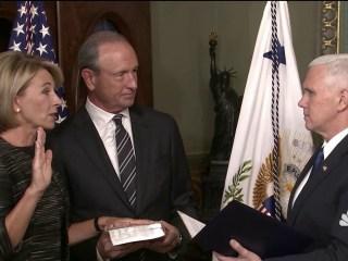 DeVos Confirmed as Education Secretary, VP Pence Casts Historic Vote