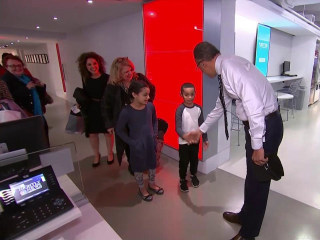 Lester Holt's Biggest Little Fan, Jaden, Pays a Visit to 30 Rock
