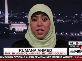 Muslim adviser quits after 8 days of Trump admin.