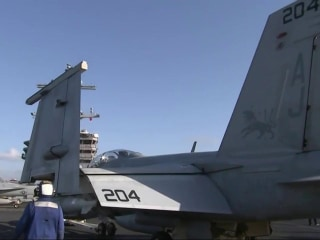 Fight Against ISIS: NBC Nightly News Visits U.S.S. Bush in the Mediterranean Sea