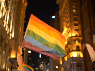 LGBTQ Supporters Held A Dance Party Outside Trump Tower