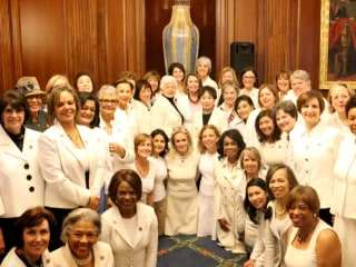 Why Democratic Women Wore White to Trump's Congressional Address