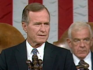 Sept. 11, 1990: President Bush Addresses Congress After Iraq Invasion of Kuwait