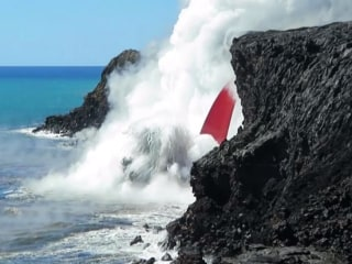 'Fire Hose' of Lava Flows Into Ocean Off Hawaii