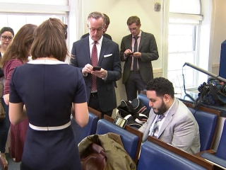 White House Bars NY Times, CNN and Others From Off-Camera  Press Gaggle