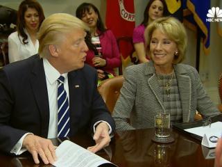 Trump Congratulates Newly-Minted Education Secretary Betsy DeVos