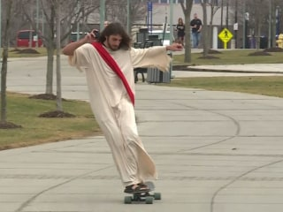 'Longboard Jesus' Is Campus' Holy Roller