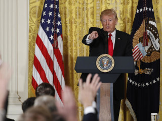 Full Video: Watch President Trump's First Solo Press Conference