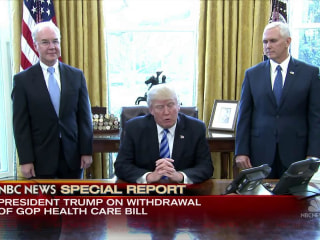 NBC Special Report: Trump Blames Democrats for Health Bill Defeat