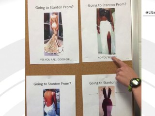 Prom poster's 'good girl' message sparks backlash on social media