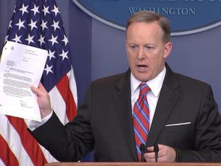 Spicer: '100% False' That WH Blocked Yates Testimony