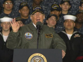 Trump Promises 'Great Rebuilding' of Military in Speech Aboard USS Gerald Ford