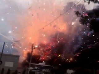 Explosions and Mayhem as Blaze in Fireworks Facility Kills Two