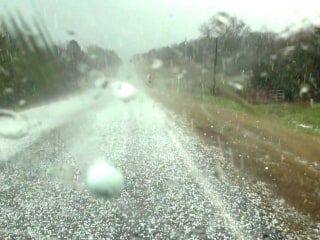 Two-Inch Hail Pummels Oklahoma and Texas